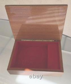 Vintage Large 10X7.5 Italian Hand Crafted Wood Inlaid Wooden Jewelry Music Box