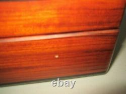 Vintage Reuge Sainte Croix Large Burl Wood Disc Music Box With 6 Songs! Plays