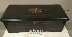 Vintage Swiss AIRS 1926 Columbia Wood Music Box for Parts. Not Playing, As Is