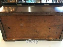 Vintage Swiss Cylinder Music Box Crank Style Complete Wood Works and Plays