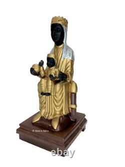 Vintage The Virgin Santa Maria of Montserrat Black Madonna, Music Box