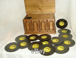 Vintage Thorens AD-30 Disc Music Box in Walnut Wood Case Plus 14 Discs