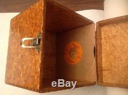 Vintage Wood Case 45 RPM Record Carying Case Box