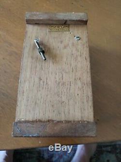Vintage Working Thorens Wood Music Box Made In Switzerland, 60s