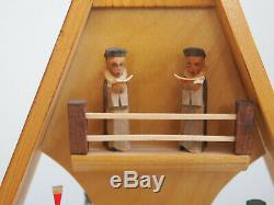Vintage christmas miners music box, collectors, Erzgebirge GDR 40cm, 1980