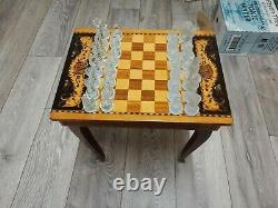 Vintage italian musical chess table
