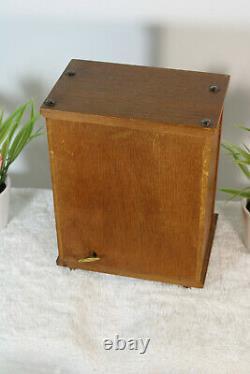Vintage shakespeare fake book Decanter music box wood glass set rare