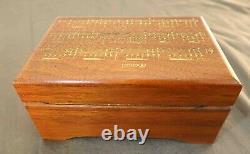 Vtg Reuge Great Composers Series Paderewski'Menuet' Swiss Solid Wood Music Box