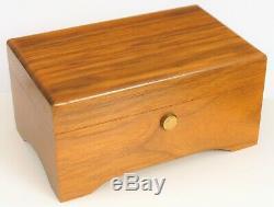 Vtg Reuge Sainte Croix Switzerland Wood Music Box Edelweiss Lara's Theme Ch 2/36