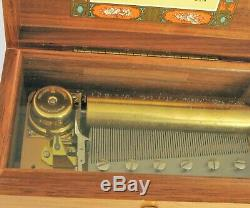 Vtg Reuge Swiss Wood Music Box Hungarian Rhapsody F Liszt 72 Key Beautiful Oak