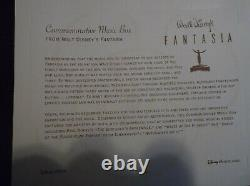 Walt Disney Large Fantasia 3 In 1 Music Box Pewter And Wood Limited To 1,000