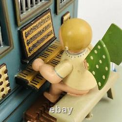 Wendt Kuhn Thorens Music Box Angel Organ Carved Wood Germany Vintage Rare