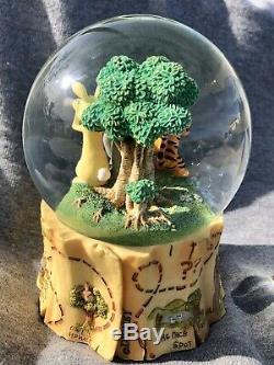 Winnie Pooh Snow Globe Disney Music Box Eeyore Piglet Tigger 100 Acre Woods Map