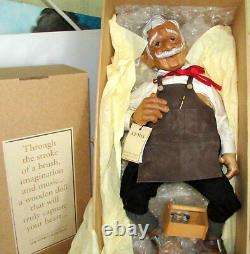 Xenis Fine Wooden Dolls Canada Geppetto Pinocchio & Cricket Complete Set Of 3